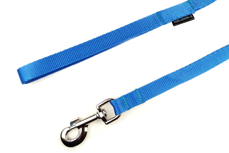 smycz-basic-60cm-niebieska-karabinczyk-wzmocniony